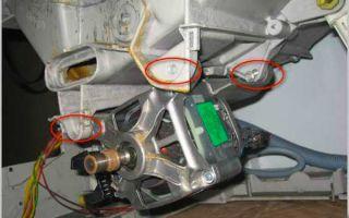 Как правильно снять двигатель со стиральной машины