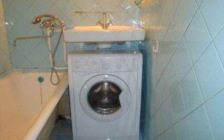 Как установить стиральную машину под раковиной правильно