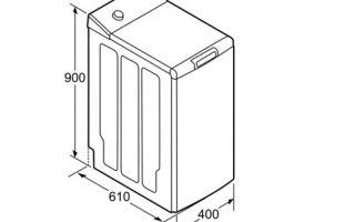 Размеры стиральных машин с вертикальной загрузкой – как выбрать