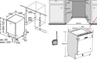 Как установить посудомоечную машину под столешницу — инструкция