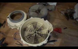 Как заменить подшипник на стиральной машине аристон своими руками