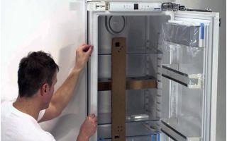 Правильная установка холодильника своими руками
