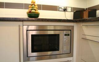 Микроволновка на кухне: куда поставить, как встроить