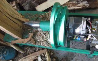 Как сделать дровокол из двигателя стиральной машины своими руками