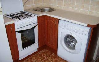 Как установить стиральную машину на кухне – правила и советы