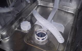 Посудомоечная машина не сливает воду, стоит вода внутри