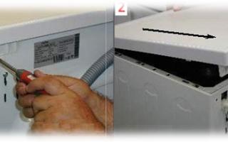 Как снять верхнюю крышку со стиральной машины без повреждений