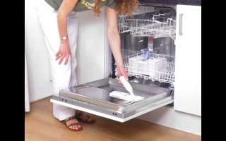 Уход за посудомоечной машиной — профилактика, чистка