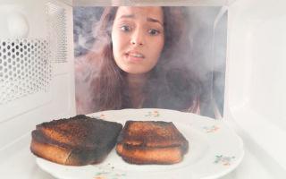 Запах из микроволновки: как убрать, избавиться от гари