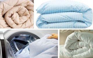 Как правильно стирать пуховое одеяло в стиральной машине