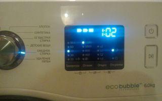 Режимы и время стирки, программы в стиральной машине самсунг