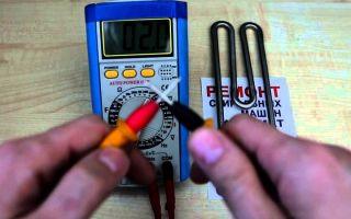 Как проверить тэн стиральной машины тестером и без него