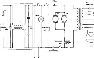 Электрические и принципиальные схемы микроволновки