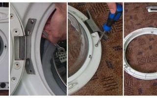 Сломалась дверца у стиральной машины: как снять и разобрать