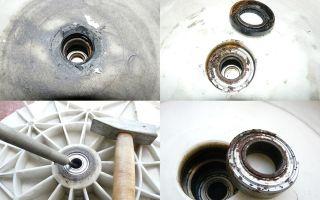 Как заменить подшипники в двигателе стиральной машины своими руками