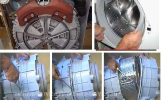 Как вытащить барабан из стиральной машины для ремонта