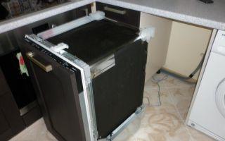 Шкаф под посудомоечную машину — выбор и установка своими руками