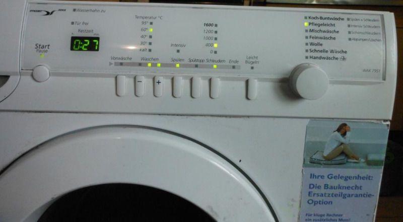 Коды ошибок стиральной машины bauknecht – что делать