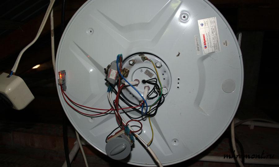 как снять регулятор водонагревателя